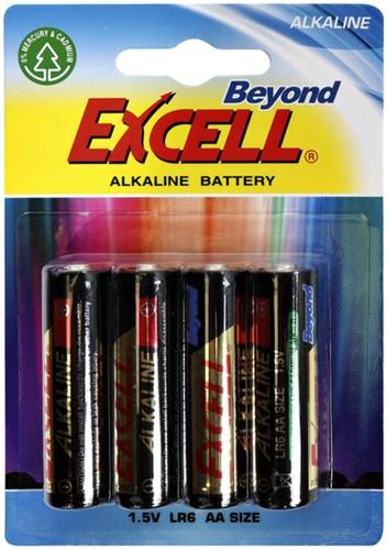 Batterij excell aa alkaline -Br6 aa LR6 AA Staafbatterijen