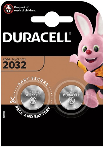 BATTERIJ DURACELL 2032 LITHIUM 2PACK -BATTERIJEN KNOOPPCEL 5000394203921 Batterij oplader gp powerbank incl 4x250