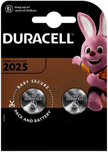 Batterij duracell 2025 lithium 2pack -B000394203907 5000394203907 2700mah