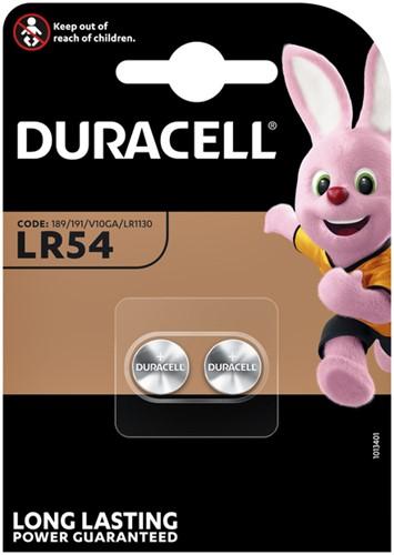 BATTERIJ DURACELL LR54 ALKALINE -BATTERIJEN KNOOPPCEL 5000394052550 Batterij duracell lr54