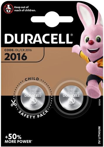 Batterij duracell 2016 lithium 2pck -B000394203884 5000394203884 2100mah