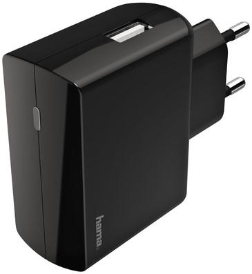OPLADER HAMA USB-A 1X 2.4A ZWART -TABLET EN PHONE LADERS EN ACC. 183258 Oplaadbarestaa