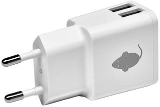 OPLADER GREENMOUSE DUAL USB-A 2.4A WIT -TABLET EN PHONE LADERS EN ACC. 46956552