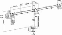 "MONITORARM NEWSTAR D550D3 10-27"" ZW -FLATSCREENSTANDAARDEN EN ARMEN FPMA-D550D3BLACK-2"
