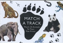 MATCH A TRACK -MATCH 25 ANIMALS TO THEIR PAW Prints MARCEL GEORGE