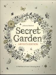 Secret Garden Artist's Edition -A Pull-Out & Frame Colouri ook Basford, Johanna