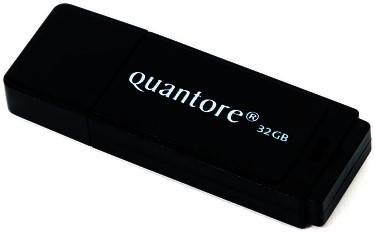 USB-STICK QUANTORE 32GB 2.0 ZWART -HUISMERK COMPUTERTOEBEHOREN QUANFD32GBBLK