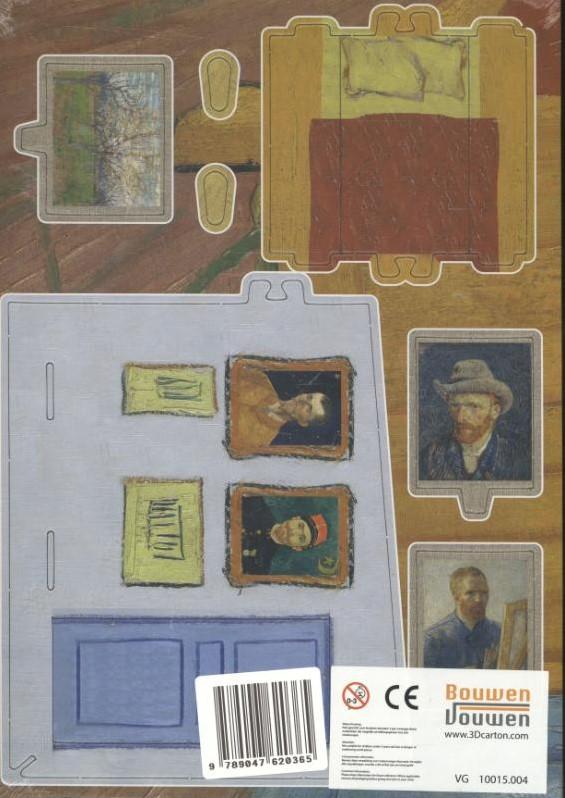 De Slaapkamer van Van Gogh, bouwplaat -3D model bij ...