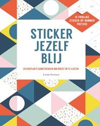 Sticker jezelf blij -Zelfgeplakte kunstwerken om di rect in te lijsten Rotmans, Esmee