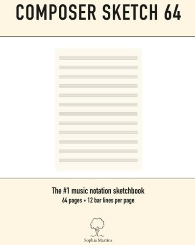 Composer sketch 64 -A4 Muziekpapier met lege noten balken Martins, Sophia