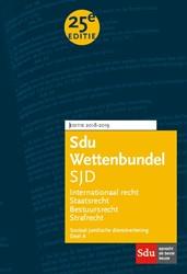 Sdu Wettenbundel (set 2 ex) -Studiejaar 2018-2019