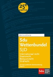 Sdu Wettenbundel Sociaal Juridische Dien -Studiejaar 2018-2019