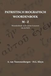 Patristisch Biografisch Woordenboek -M t/m Z Toorenenbergen, A. van