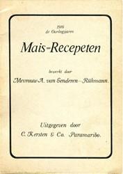 Mais-Recepeten Genderen-Ruhmann, Agnette Johanna van