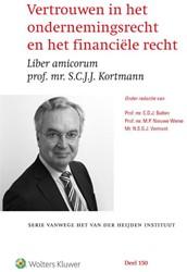 Vertrouwen in het ondernemingsrecht en h -liber amicorum prof.mr. S.C.J. J. Kortmann