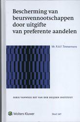 Bescherming van beursvennootschappen doo Timmermans, R.A.F.