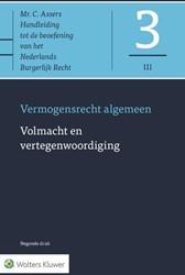 Asser 3-III Volmacht en vertegenwoordigi -Vermogensrecht algemeen Kortmann, prof. mr. S.C.J.J.