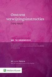 Omtrent verwijzingsinstructies -(1915-1952) Pieterse, L.J.A.