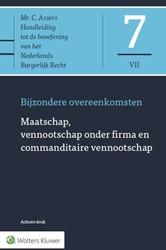 Asser 7-VII Maatschap, vennootschap onde -Bijzondere overeenkomsten Olffen, prof. mr. M. van