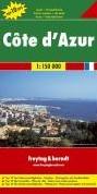 F&B Cote d'Azur -Toeristische wegenkaart 1:150 000