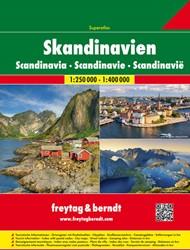 Scandinavie Superatlas F&B -Wegenatlas 1:250 000 / 1:400 0 00 FREYTAG & BERNDT