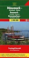 F&B Denemarken, Groenland, Faeroer -Wegenkaart 1:400 000