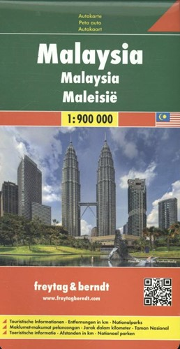 F&B Maleisie -Wegenkaart 1:900 000 FREYTAG & BERNDT