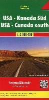 F&B Verenigde Staten, Zuid-Canada -Wegenkaart 1:4 000 000