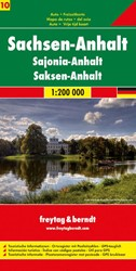 F&B Duitsland 10 Sasen-Anhalt -Toeristische wegenkaart 1:200 000