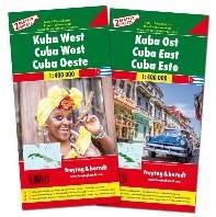 F&B Cuba West en Oost, set 2 kaarten -Set wegenkaarten 1:150 000
