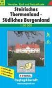 Steirisches Thermenland - Sudliches Burg -Wander-, Rad- und Freizeitkart e. GPS-Punkte. Freizeitfuhrer