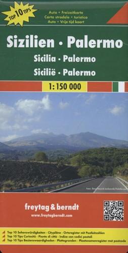 F&B Sicilie, Palermo -Toeristische wegenkaart 1:150 000 FREYTAG & BERNDT