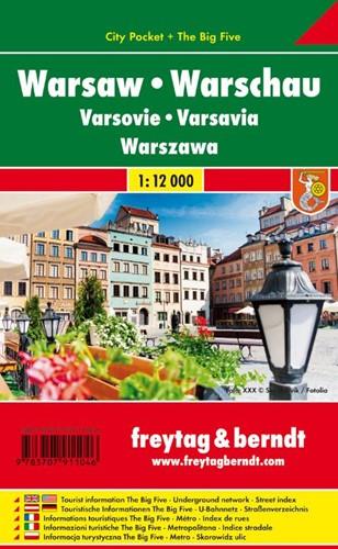 F&B Warschau city pocket -Stadskaart 1:15 000