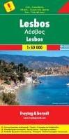 F&B Lesbos -Toeristische Wegenkaart 1:50 0 00