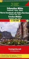 F&B Zweden 4 Midden, Sundsvall, Falu -Toeristische wegenkaart 1:250 000 FREYTAG
