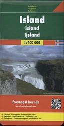 Island  1 : 400 000. Autokarte -Cityplan, Ortsregister, Entfer nungen in km FREYTAG & BERNDT