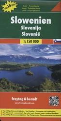 Slowenien, Autokarte 1:150.000, Top 10 T -Top 10 Tips Sehenswurdigkeite n. Top Cityplane. Ortsregiste FREYTAG & BERNDT