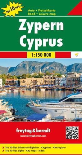 F&B Cyprus -Toeristische wegenkaart 1:150 000