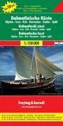 F&B Dalmatische kust, Rijeka, Cres, -Toeristische wegenkaart 1:150 000