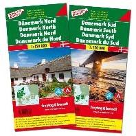 F&B Denemarken Noord en Zuid, set 2 -Set wegenkaarten 1:150 000