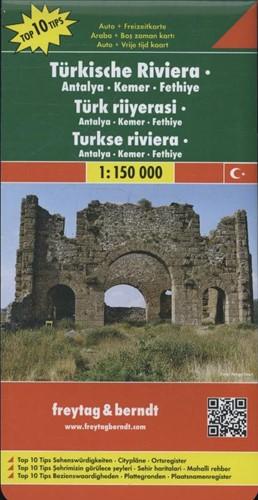 F&B Turkse Riviera, Antalya, Kemer, -Toeristische wegenkaart 1:150 000 FREYTAG