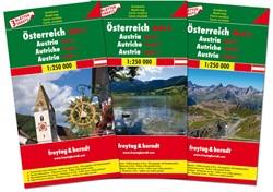 F&B Oostenrijk 3-kaartenset -Wegenkaarten set 1:250 000