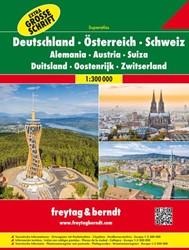 Duitsland, Oostenrijk, Zwitserland Super -Wegenatlas 1:300 000