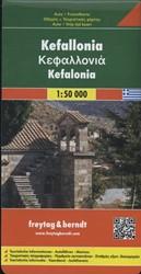 Kefallonia 1 : 50 000 -Touristische Informationen / A utofahren / Marinas FREYTAG