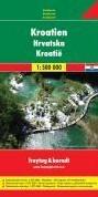 Kroatien 1 : 500 000. Autokarte -Dalmatinische Inseln 1 : 275 0 00. Cityplane. Ortsregister m FREYTAG & BERNDT