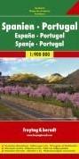 F&B Spanje-Portugal 1-zijdig -Wegenkaart 1:900 000