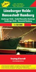 F&B Luneburger Heide, Hamburg -Toeristische wegenkaart 1:150 000
