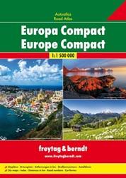 Europa Compact Wegenatlas F&B -Wegenatlas 1:1 500 000