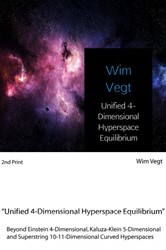 Unified 4-Dimensional Hyperspace Equilib -Beyond Einstein 4-Dimensional, Kaluza-Klein 5-Dimensional an Vegt, Wim