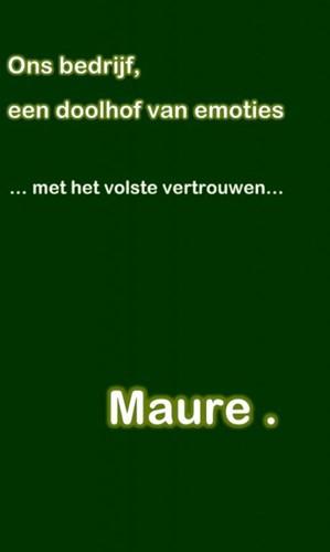 Ons bedrijf, een doolhof van emoties -...Met het volste vertrouwen.. . ., Maure
